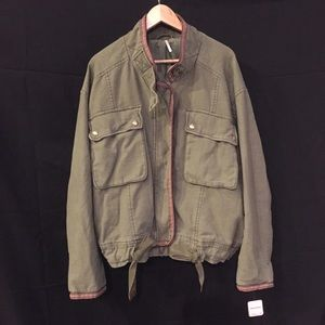 Sold Free People Bomber Jacket Sz L NWT New Army